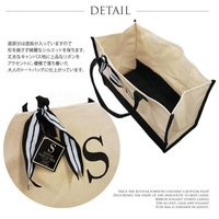 "Сумка HB771 Initial ""B"" and ""F"" ""C' Canvas Bicolor Tote Shopping Bag /free shipping"
