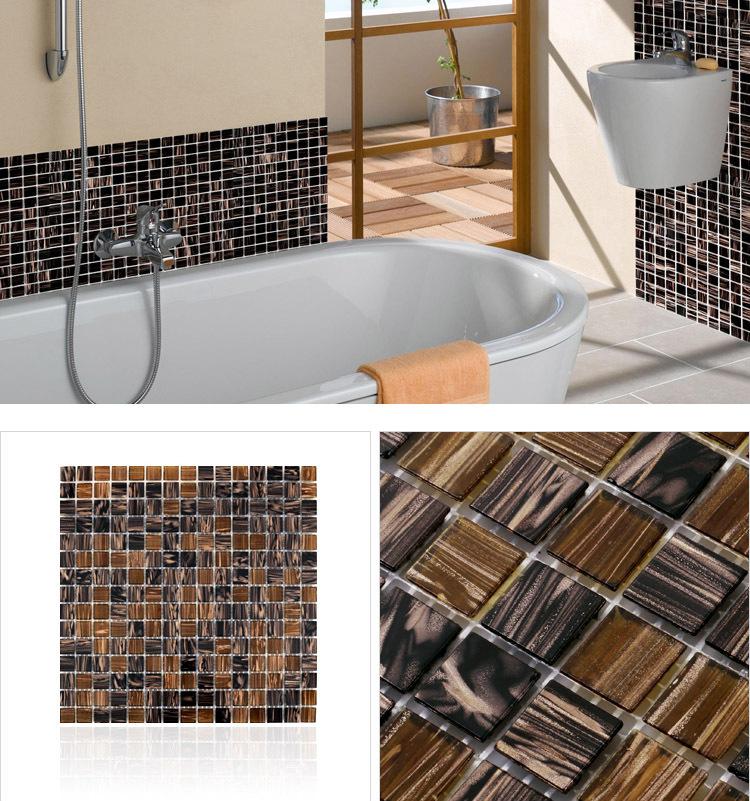 backsplash stickers hand painting mgt142 vitreous glass mosaic tile