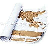 Детская игрушка Large Size Scratch Off World Map Poster Personalized Travel Vacation Log Gift Express 15pcs/lot