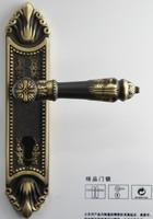 BRASSHANDLE HIGH QUALITY European style Luxurious /Door handle set w/lock brass +free shipping