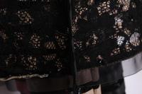 Free shipping women's lace cutout PU patchwork fashion slim coat,women's fashion V/neck jacket
