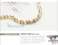 Браслет platinum plated ITALINA red apple bracelet crystal bracelet #90001689