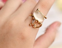 Sunshine store jewelry cute cat finger ring C042 J122