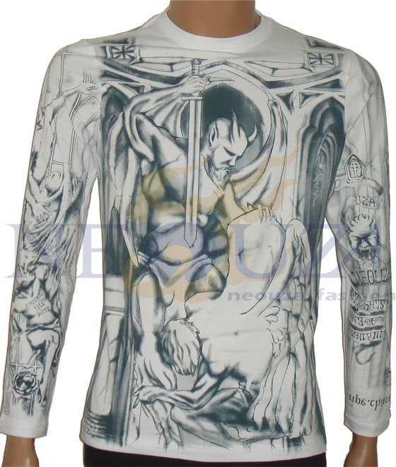 nova marca prison break wentworth miller tatuagem de corpo inteiro manga comprida t shirt. Black Bedroom Furniture Sets. Home Design Ideas