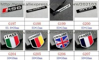 Наклейки 10pcs top quality 3D Labeling metal nameplate nameplate label Avantgarde AMG metal nameplate CAR BADGE EMBLEM