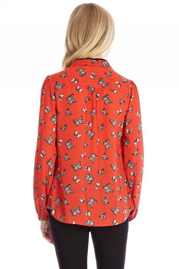 Блузка С Бабочками С Доставкой