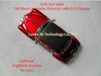 100% вершины старых мужчин автомобилей радар-детекторов с lcd дисплей Английский & РГО версии противоскользящая автомобильный адаптер