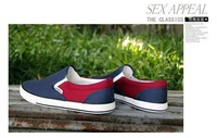 Мужская обувь 2013 autumn Men's shoes Fashion leisure convenient low shoes Korean breathable casual Canvas shoes