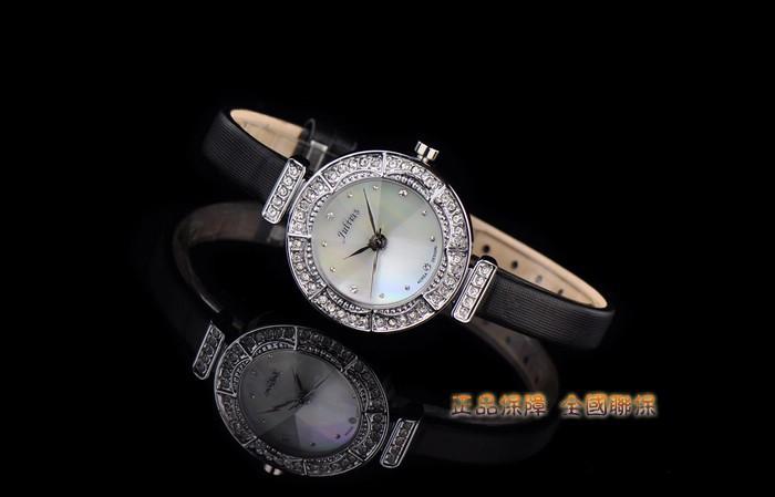 Женщина леди Наручные Часы Япония Кварцевых Часов Лучший Моды Платье Браслет Кожаный Снаряд Блестящий Девушка Подарок На День Рождения JA-589