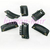 Зажимы для наращивания волос Remy hair 50pieces 9/32 32mm long x 17mm wide