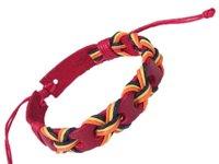 Personality dermal wax rope pure manual weaving bracelet!