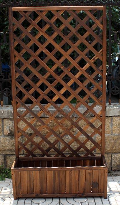 Заборчик для цветов из дерева