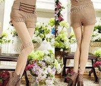 Женские шорты New Women Shorts Double-breasted Empire-waist Winter Woolen Shorts 9329