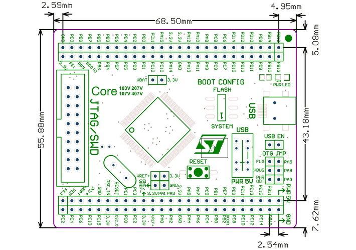 core103v stm32f103vet6 stm32f103 stm32 arm cortex
