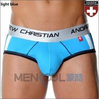 Мужские трусы Mens ac andrew christian low waist lycra cup covers brief underwear with inner sponge pad