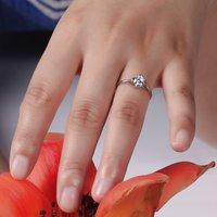 Кольцо 925 Sterling Silver 0.53 ct Swiss Diamond Women Wedding Rings Ladys finger jewellery RXB J18 18K WHITE GOLD PLATED