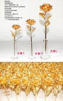 Праздничный атрибут Wedding gifts/Valentina gift - 24K gold rose big size
