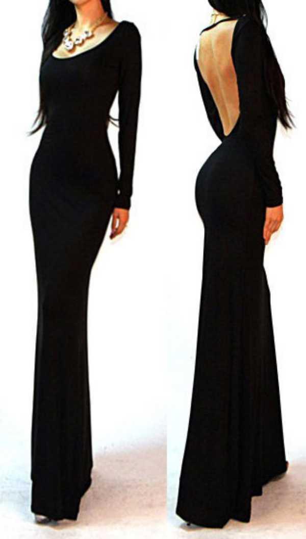 Вечернее платье черного цвета 22