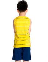 Комплект одежды для мальчиков New Style Boys Cartoon Leisure Sets Fashion Tops + Half Pants K0429