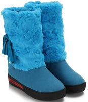 Женские ботинки CooLcept wedge ankle short flat boots women snow fashion winter warm boot footwear shoes P9425 EUR size 34-39
