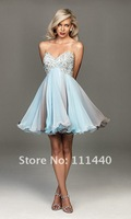 Платье для вечеринки 2012 Hot Sale New Quality Assurance Short Strapless Allure Prom Dress Prom gowns Evening Dresses