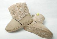 Женские ботинки 2012 new winter warm flat heels solid snow boots flat woman heart soft plush shoes, women Winter Thicken boots