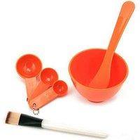 Инструменты для макияжа Cosmetics Beauty 4 In 1 DIY Facial Mask Bowl Brush Spoon Tool