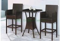 Комплект плетеной мебели rattan patio bar set, bar table and bar chair