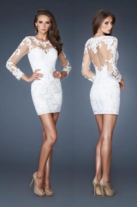 Вечерние платья короткие на свадьбу