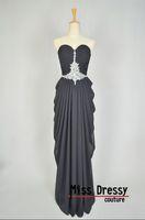 Вечернее платье Real Samples Sheath Sweetheart Chiffon Evening Dresses Party Dress Prom Dress with Beads