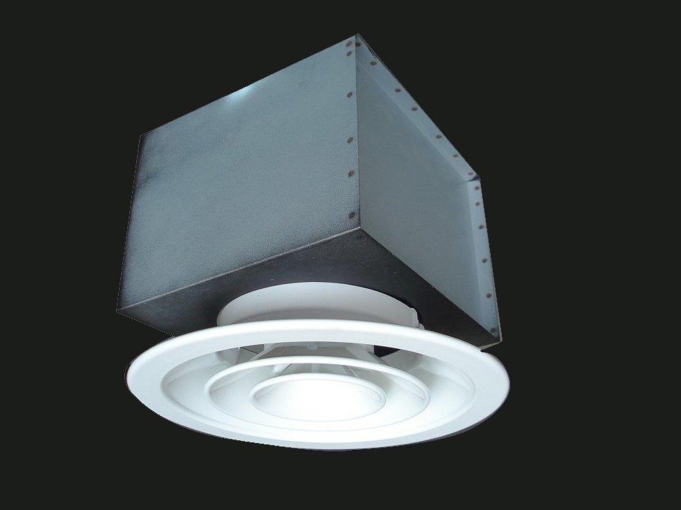 Circular Ceiling Diffuser Fys A With Plenum Hvac View