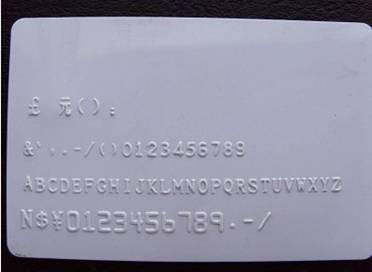 Manual PVC card dog tag embossing machine