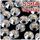 SS12 лучшие качества Исправление Стразы более блестящими, более brigstfix камни кристалла 10гросс/сумка пришивные капелька клея