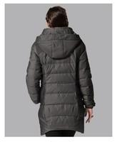 женщин осень-зима мода твердых длинное пальто с шляпой, основные куртка, вниз ветровки пуховики 8321