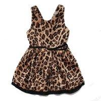 Платье для девочек baby girls' dresses kids sleeveless leopard vest Dress children dress 0911 B CH