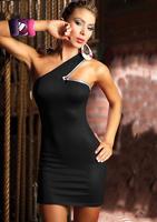 Платье на студенческий бал 2013 Sexy Clubwear New Fashion Black Women Mini Party Dress with Chain Sexy Lingerie Dress