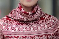 Женский пуловер 2013 Autumn/winter all-match dot snowflake turtleneck slim long-sleeve sweaters women Y2696