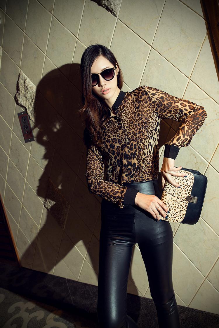 Шифоновая Леопардовая Блузка В Нижнем Новгороде