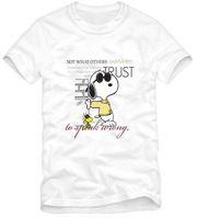 Женская футболка Chinese Size S-XXXL SNOOPY cool dog print T-shirt cartoon dog tee shirt o-neck 00% cotton 6 colors
