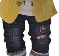 новые моды детские весна осень набор одежды, мальчики одежда, дети повседневный костюм 3шт хлопка пальто + капот т Рубашка + брюки, 4 наборы/лот