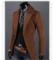 men's windbreaker outwear wollen coat free shipping sweat overcoat men's hoodies warm winter new year gift 2013 new!!