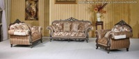MOQ 3-5Sets European and American  Style Rural Hand Carving Solid Wood Furniture,Engraving Sofa,YSF-4008