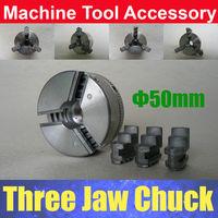 "Зажимной патрон Mini Lathe 3 Three Jaw Chuck 50mm 2"" inch M12 x1mm Threaded Back"