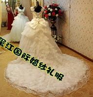 2012 new super flash sexy wedding dress Korean Bra straps trailing marriage