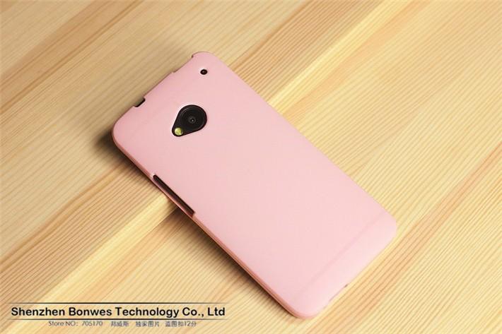 איכות גבוהה צבע טהור Slim Fit גמיש TPU כיסוי מקרה עבור HTC one M7,חינם זרוק משלוח