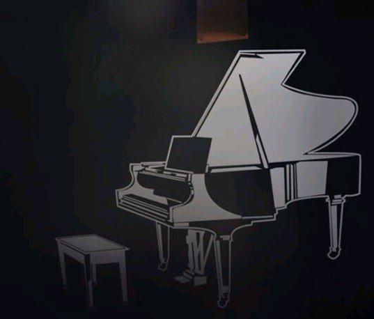 Piano kamer muur decor huis thuis sticker poster die stickers behang