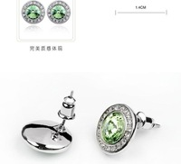 Серьги-гвоздики Graceful Crystal Stud Earrings With SWA Elements Fit For Evening dress Party dress #74699