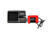 HD 720p двойной объектив автомобиль видеорегистратор i1000 g сенсор + h.264 + 120 градусов автомобиль черный ящик автомобиля видеомагнитофон