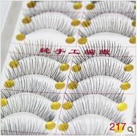 Накладные ресницы 10 Pairs Handmade Fake False Eyelash Natural Look Transparent Stem