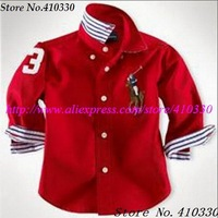 Fashion boys summer long sleeve shirt,children sports coat,kids solid color cotton t-shirt Wholesale